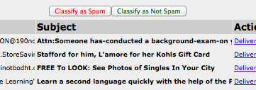classify as spam or not
