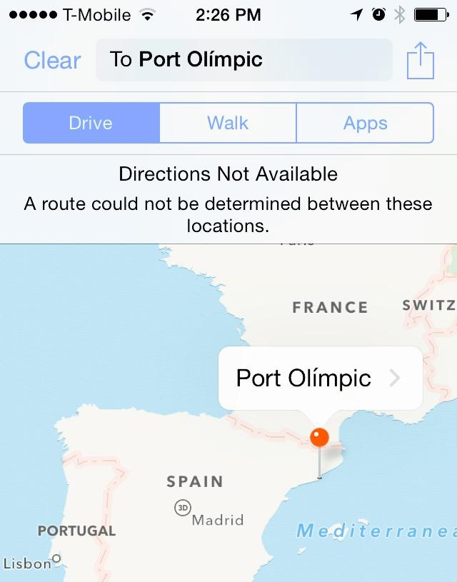 Directions to Port Olimpic