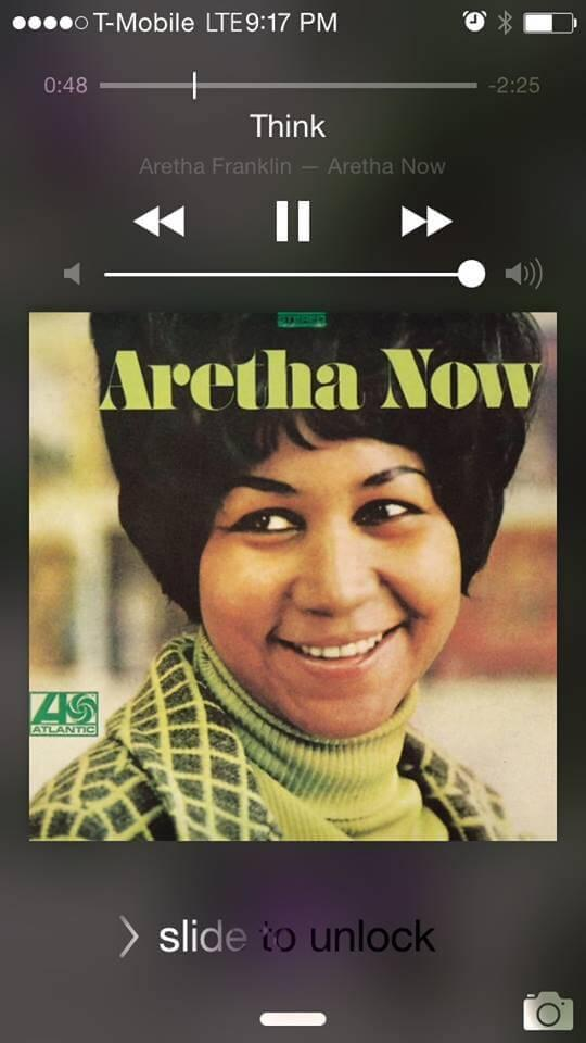 Now playing Think by Aretha Franklin
