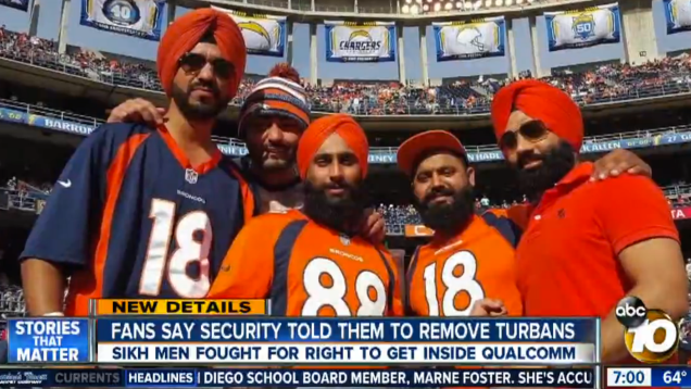 Sikh Fans Refused Entry To Chargers Stadium Because Of Their Turbans